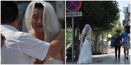 Xót xa cảnh người cha tuyệt vọng mặc váy cưới, xin tiền trên phố để cứu con gái mắc bệnh ung thư