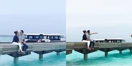 Cường Đôla lại khoe ảnh tình tứ với Đàm Thu Trang ở Maldives cùng lời yêu ngọt ngào đến ghen tỵ