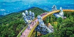 Những điều bất ngờ về cây cầu mạ vàng, nằm 'lọt' trong đôi tay khổng lồ độc nhất Đà Nẵng!
