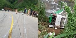 Tai nạn kinh hoàng: Xe khách lao xuống vực, gần 20 người thương vong