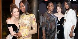 """yan.vn - tin sao, ngôi sao - """"Báo đen"""" Naomi Campbell diện áo dài Công Trí, đeo kim cương khủng của Lý Nhã Kỳ dự sự kiện"""