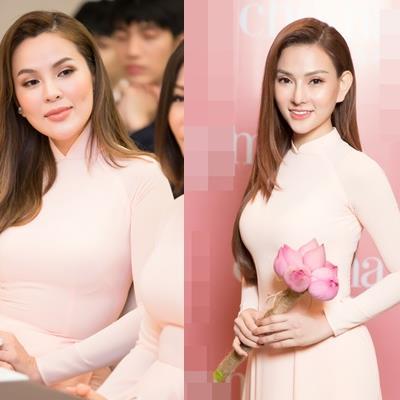 Thu Minh, Phương Lê diện áo dài đẹp