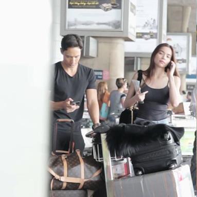 Hồ Ngọc Hà để mặt mộc, xuất hiện cùng Kim Lý tại sân bay sau ồn ào The Face