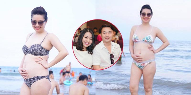 yan.vn - tin sao, ngôi sao - Lê Khánh diện bikini, khoe bụng bầu con trai vượt mặt