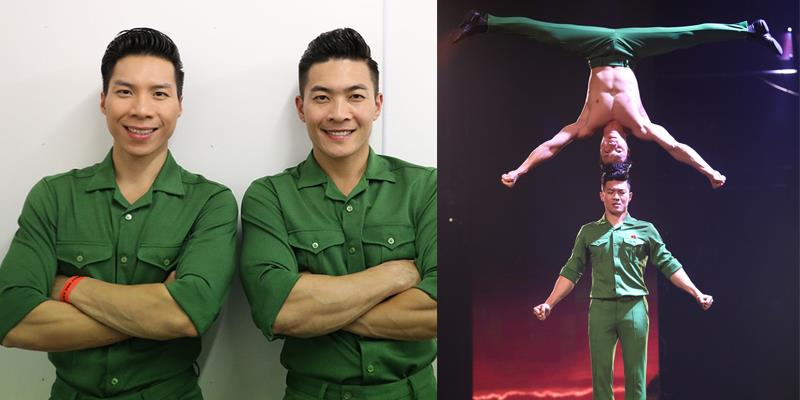 yan.vn - tin sao, ngôi sao - Vì sao Quốc Cơ - Quốc Nghiệp chọn màu áo lính biểu diễn đêm Chung kết Britain's Got Talent?