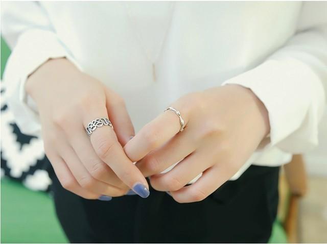 Source: www.pinterest.com #15 – Kiểu nhẫn bạc thời trang cho nữ