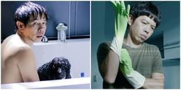 Thái Hòa hài hước nói về cảnh 'nóng' trong 'Chàng vợ của em': 'Đi phim, tôi không bao giờ...tắm'