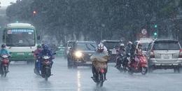 Xuất hiện vùng áp thấp trên biển Đông gây mưa giông ở Tây Nguyên và Nam Bộ