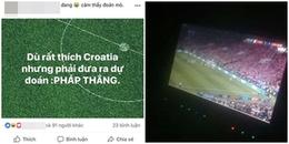 Dân mạng hào hứng dự đoán Pháp hay Croatia sẽ nâng cúp cho chung kết World Cup 2018