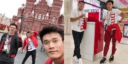 yan.vn - tin sao, ngôi sao - Bùi Tiến Dũng diện đồ đôi cùng Hà Đức Chinh ở Nga, sẵn sàng trao giải cầu thủ xuất sắc World Cup