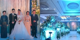 Không gian tiệc cưới 5 sao ngập tràn hoa tươi của Á hậu Tú Anh và ông xã Gia Lộc