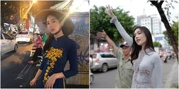 Trái với hành động kém văn hóa của sao Hàn, Nong Poy lại vô cùng thân thiện với fan như thế này