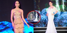 Thí sinh Hoa hậu Việt Nam 2018 'chơi xấu' khi đá váy bạn?