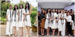 Bạn có tìm được điểm thú  vị khi 4 nàng Hậu tuyệt sắc khi chụp cùng 1 bức ảnh?