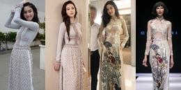 Nong Poy 'đụng hàng' mỹ nhân Việt khi diện áo dài: Ai xuất sắc hơn ai?