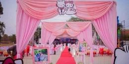 Quay về tuổi thơ, cô gái 9X quyết định mang sở thích về Hello Kitty để trang hoàng đám cưới của mình