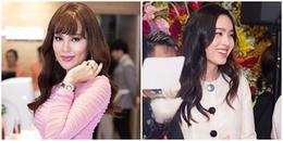 Nong Poy diện váy của NTK Công Trí đọ sắc cùng Hoa hậu Phương Lê