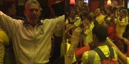 CĐV Anh liều mạng ăn mừng chiến thắng của 'Tam sư' trong quán bar toàn fan Colombia