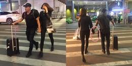 Hân và Kiệt của 'Gạo nếp gạo tẻ' diện đồ đôi, tình tứ ở sân bay, rộ nghi vấn 'phim giả tình thật'