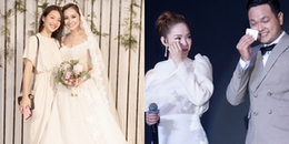 yan.vn - tin sao, ngôi sao - Khả Ngân diện đầm giản dị, Minh Hằng bật khóc nức nở trong đám cưới của em trai