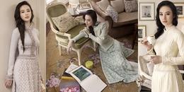 Không chỉ có hở bạo, Angela Phương Trinh bất ngờ ngoan hiền, sang hết nấc trong tà áo dài