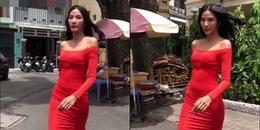 yan.vn - tin sao, ngôi sao - Hoàng Thùy tự tin trình diễn catwalk, lắc tóc, xoay hông cực thần thái trong hẻm