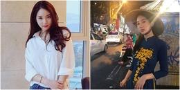 Duyên dáng trong tà áo dài Việt Nam, bạn gái cũ của TOP bị chỉ trích vì phì phèo thuốc lá