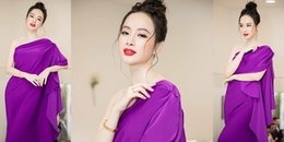 Angela Phương Trinh gây 'thương nhớ' với bộ váy tím thời thượng lệch vai