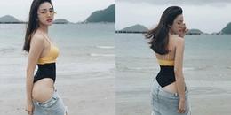 Thiên Nga The Face gây tranh cãi với style diện quần jeans tụt nửa mông phối bikini