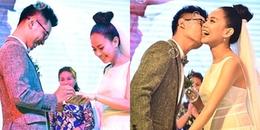 Ông xã hôn Á quân Vietnam Idol 2012 Hoàng Quyên liên tục trong đám cưới