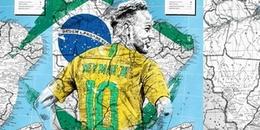 Bộ tranh vẽ ngôi sao World Cup trên nền bản đồ độc - lạ đến từng chi tiết gây ấn tượng CĐM