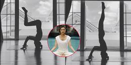 Tăng Thanh Hà tập yoga với động tác siêu khó như diễn viên xiếc