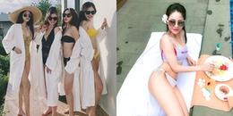 Các hot girl World Cup rủ nhau khoe bikini 'đốt mắt' nhưng Trâm Anh đâu rồi?