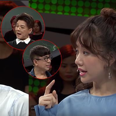 Trường Giang phì cười khi nghe Hari Won nói nhầm Vũ Hà, Long Nhật là