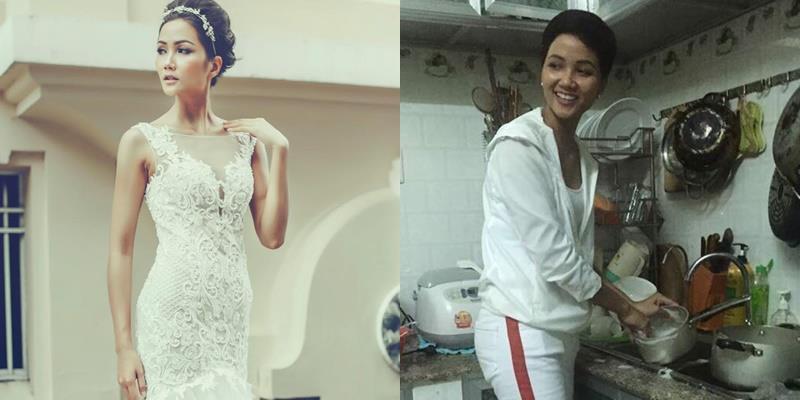 yan.vn - tin sao, ngôi sao - Rũ bỏ hình tượng lộng lẫy của một Hoa hậu, H'Hen Niê giản dị giúp mẹ làm việc nhà