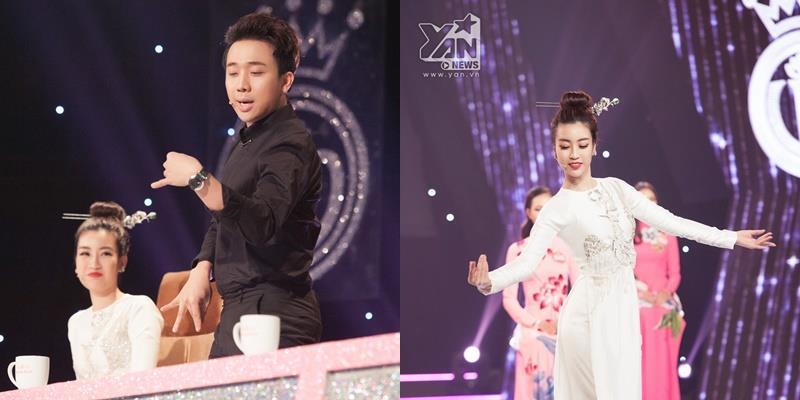 yan.vn - tin sao, ngôi sao - Hoa hậu Đỗ Mỹ Linh tháo giày, múa đương đại khiến Trấn Thành