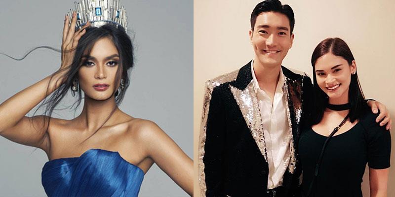 yan.vn - tin sao, ngôi sao - Hoa hậu Pia Wurtzbach phấn khích tột độ khi gặp được Si Won (Super Junior)