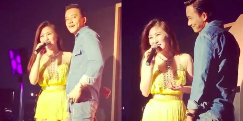 yan.vn - tin sao, ngôi sao - Phản ứng của Hương Tràm khi Mai Tài Phến chạy lên sân khấu lúc đang biểu diễn?