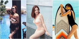 Điểm danh những 'bà mẹ ba con' của showbiz Việt nhưng vẫn diện bikini nóng bỏng chết người