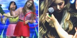 Bị trật khớp vai vẫn cố gắng biểu diễn, SinB (GFriend) được fan Kpop khen ngợi hết lời