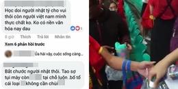 Các 'anh hùng bàn phím' mỉa mai CĐV Việt Nam bắt chước người Nhật dọn rác: CĐM bức xúc ném đá dữ dội