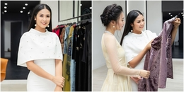 'Nàng thơ xứ Huế' Ngọc Trân tự tay đo may áo dài cho Hoa hậu Ngọc Hân