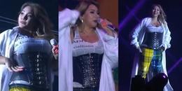 Tăng cân phát tướng là thế, CL vẫn biểu diễn hát Live cực sung tại sự kiện ở Singapore