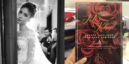 Lộ diện thiệp cưới của Lan Khuê và bạn trai đại gia, địa điểm và thời gian đã rõ ràng