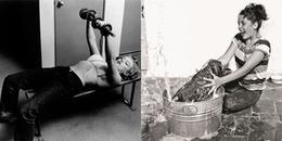 27 bức ảnh cực hiếm của sao Hollywood: Marilyn Monroe tập gym, Elizabeth Taylor tắm cho cún yêu
