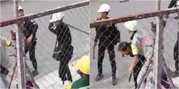 Xôn xao clip hai công nhân ở Sài Gòn bị nhóm bảo vệ đánh gục trên đường phố