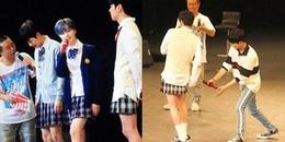 Fan Kpop cười bò trước khoảnh khắc iKON mặc váy nữ sinh cover hit của Black Pink