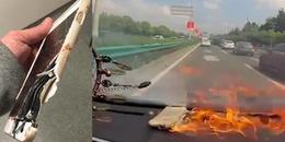 iPhone 6 tự nhiên bốc cháy ngùn ngụt trong xe, chủ shop nhận sửa rồi mời khách... dùng tiếp
