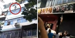 Cháy chung cư, hai đứa trẻ được cứu sống nhờ sự tuyệt vọng của người mẹ khi ném con từ tầng 4 xuống