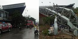 TP.HCM: Bảng quảng cáo đổ sập trong mưa khiến 2 người thương vong